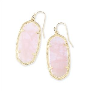 Kendra Scott Rose Quartz Elle Earrings